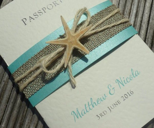 passport bellyband wedding invitation