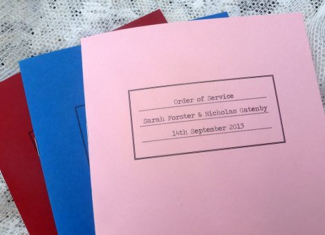 exercise book order of service