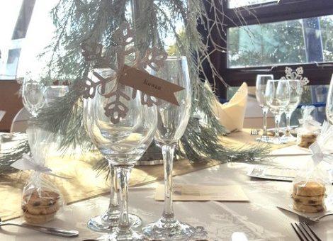 Glitter snowflake table setting