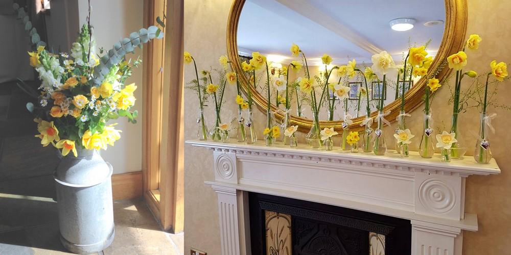 Daffodil wedding decor