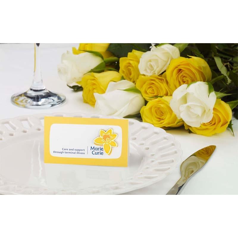 Daffodil wedding favour charity pin