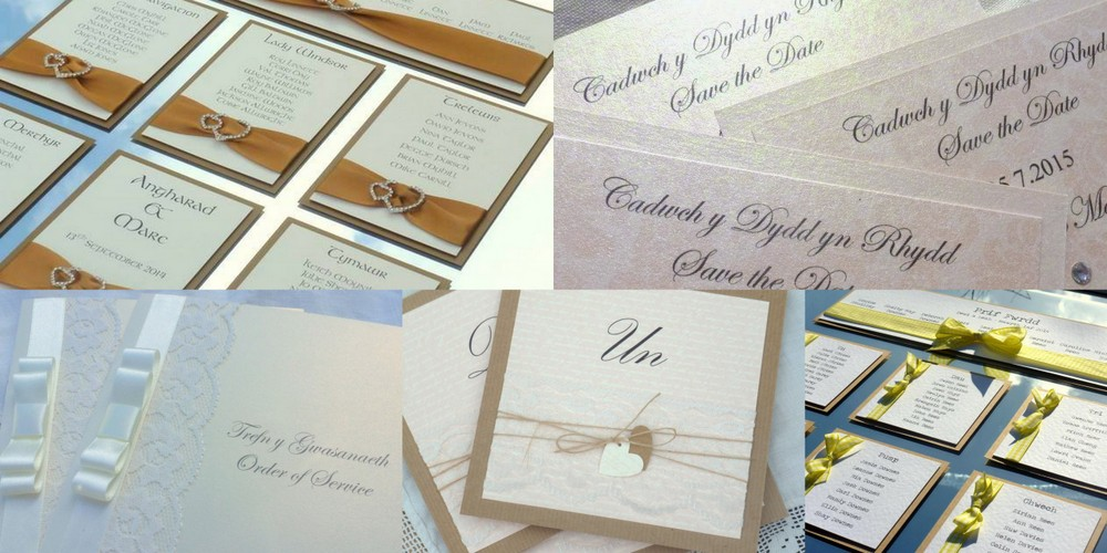 Welsh theme wedding stationery