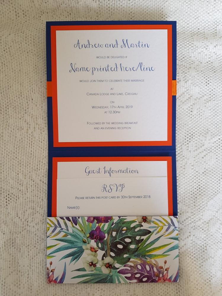 pocketfold invitation with inserts