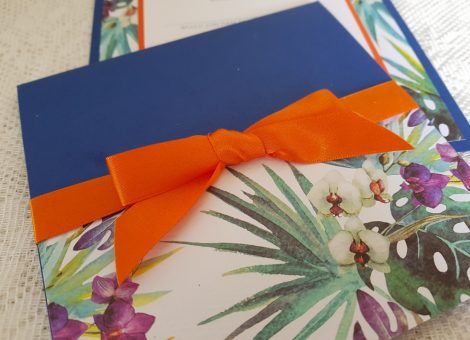 bespoke tropical theme wedding invitations