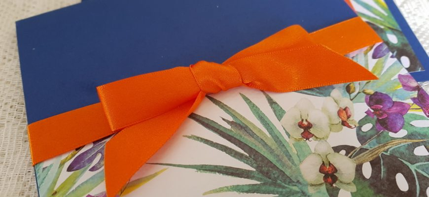 bespoke tropical theme wedding invitations