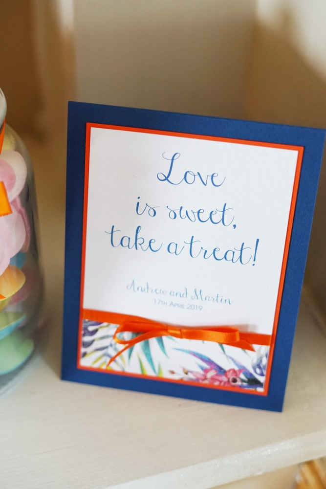 love is sweet wedding sign