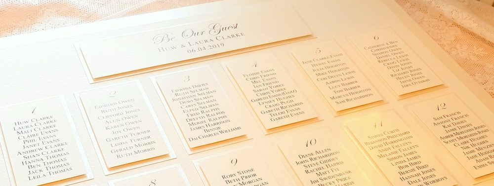 be our guest wedding table plan