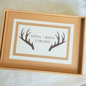 antlers wedding guest books