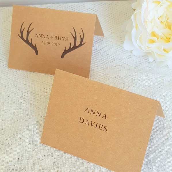 stag recycled place card