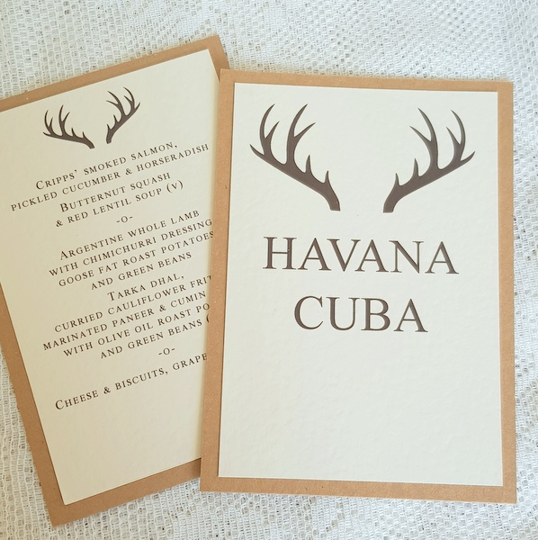 stag table name and menu