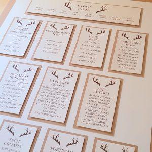 stag wedding table plan