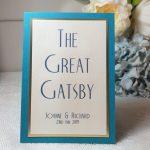 great gatsby theme wedding sign