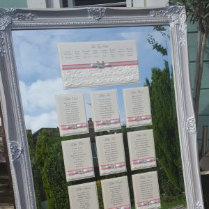 bows and bling diamante butterfly table plan