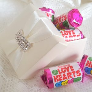 love heart sweets for wedding
