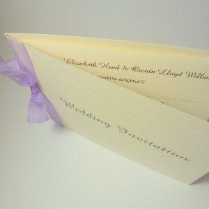 folded invitation classic ribbon