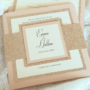 glitterati bellyband invitation