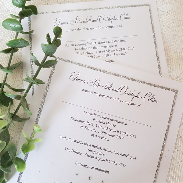glitterati classic flat invitations