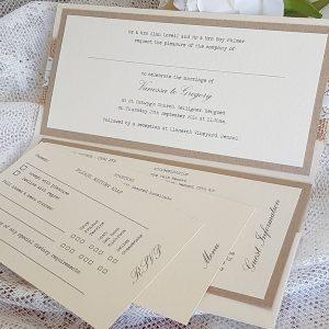 rustic pocketfold invitation inserts