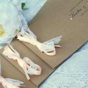 kraft and lace invitation