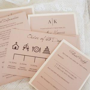 blush wedding invitation inserts