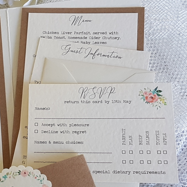 rustic invitation cards