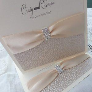 sequin sparkle cream invitations
