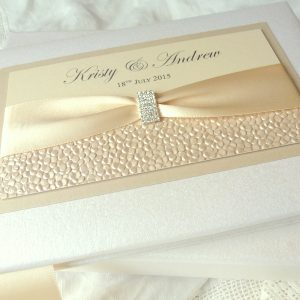 sequin sparkle ivory wedding guest books