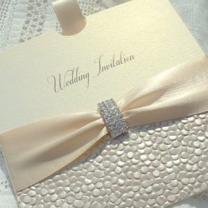 sequin sparkle ivory pull out invitation