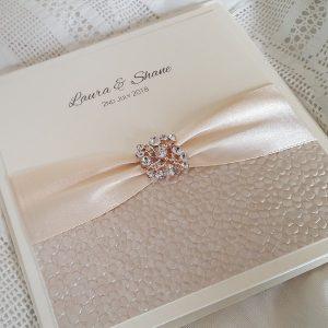 sequin sparkle rose gold invitation