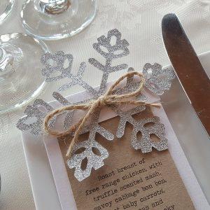 rustic winter wedding menu