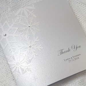 laser cut snowflake thank you card
