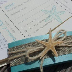 starfish and hessian bellyband