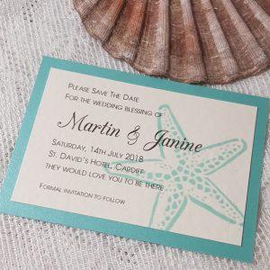 starfish print save the date