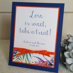 tropical love is sweet wedding sign