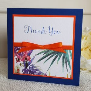 tropical thank you card