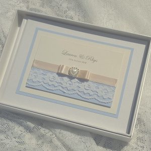 vintage lace and pearls wedding guest books