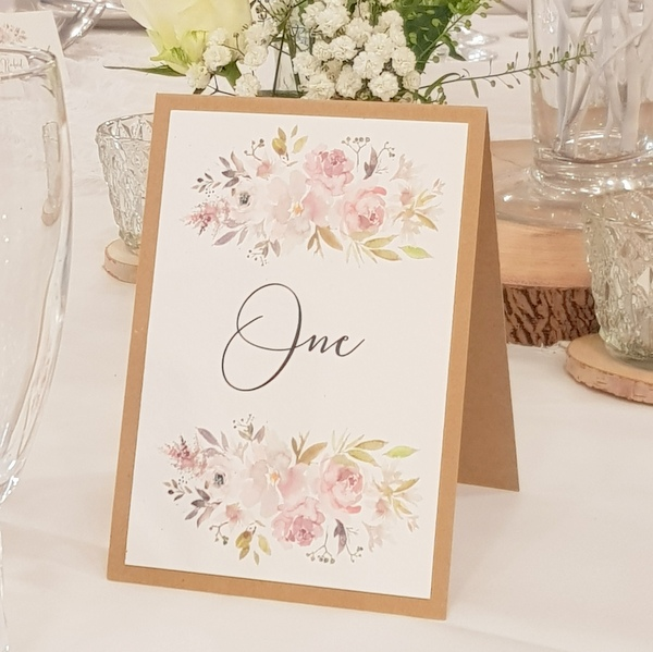 rustic floral table name
