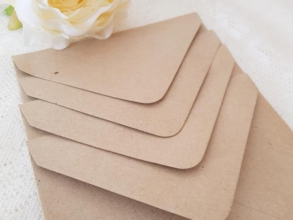 Wedding invitation kraft envelopes