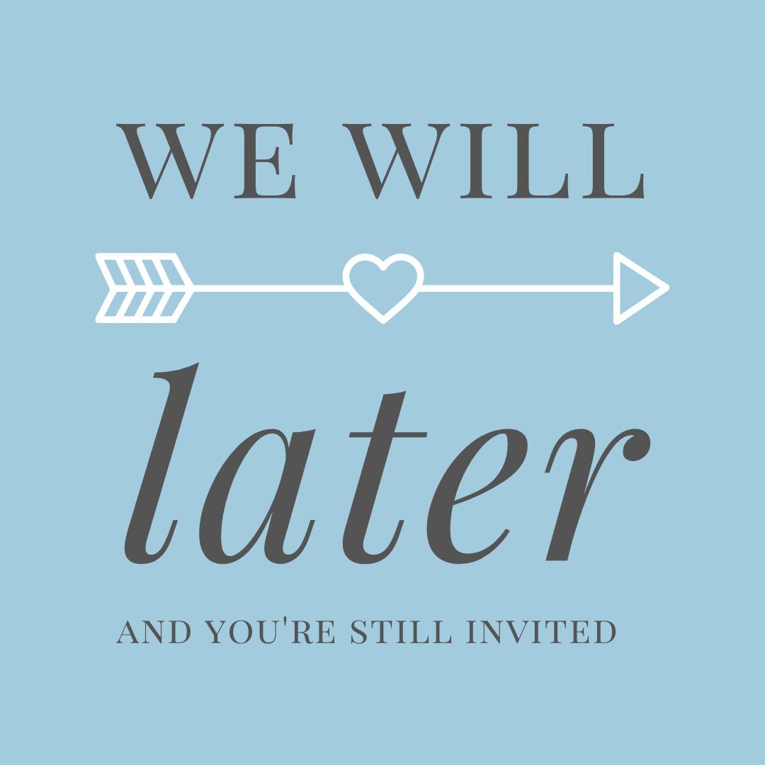 Wedding postponement graphic