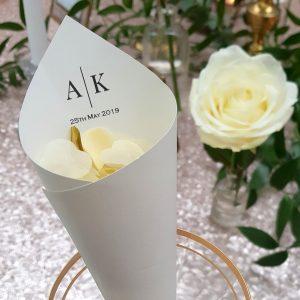 personalised confetti cone