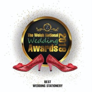Welsh National wedding Awards best stationery award 2019 for By Jo Wedding stationery Cardiff