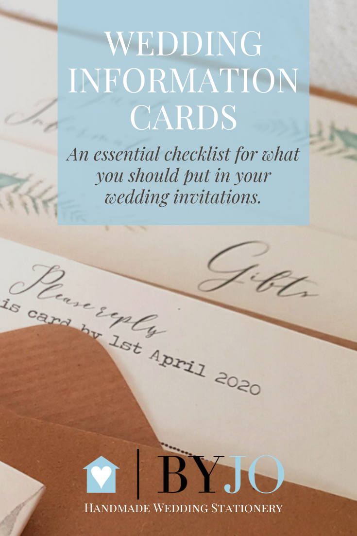 pretty rustic botanical wedding information cards