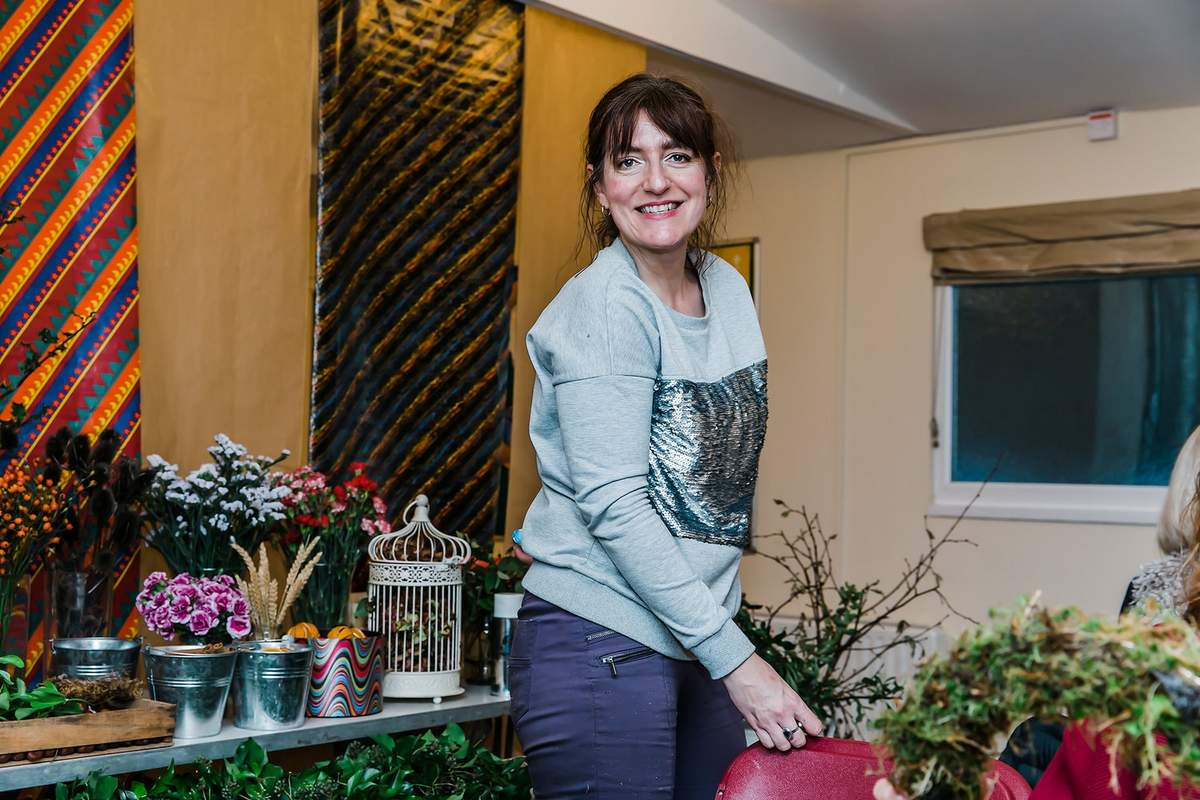 South Wales wedding supplier, florist Anne-Marie from Petal Power