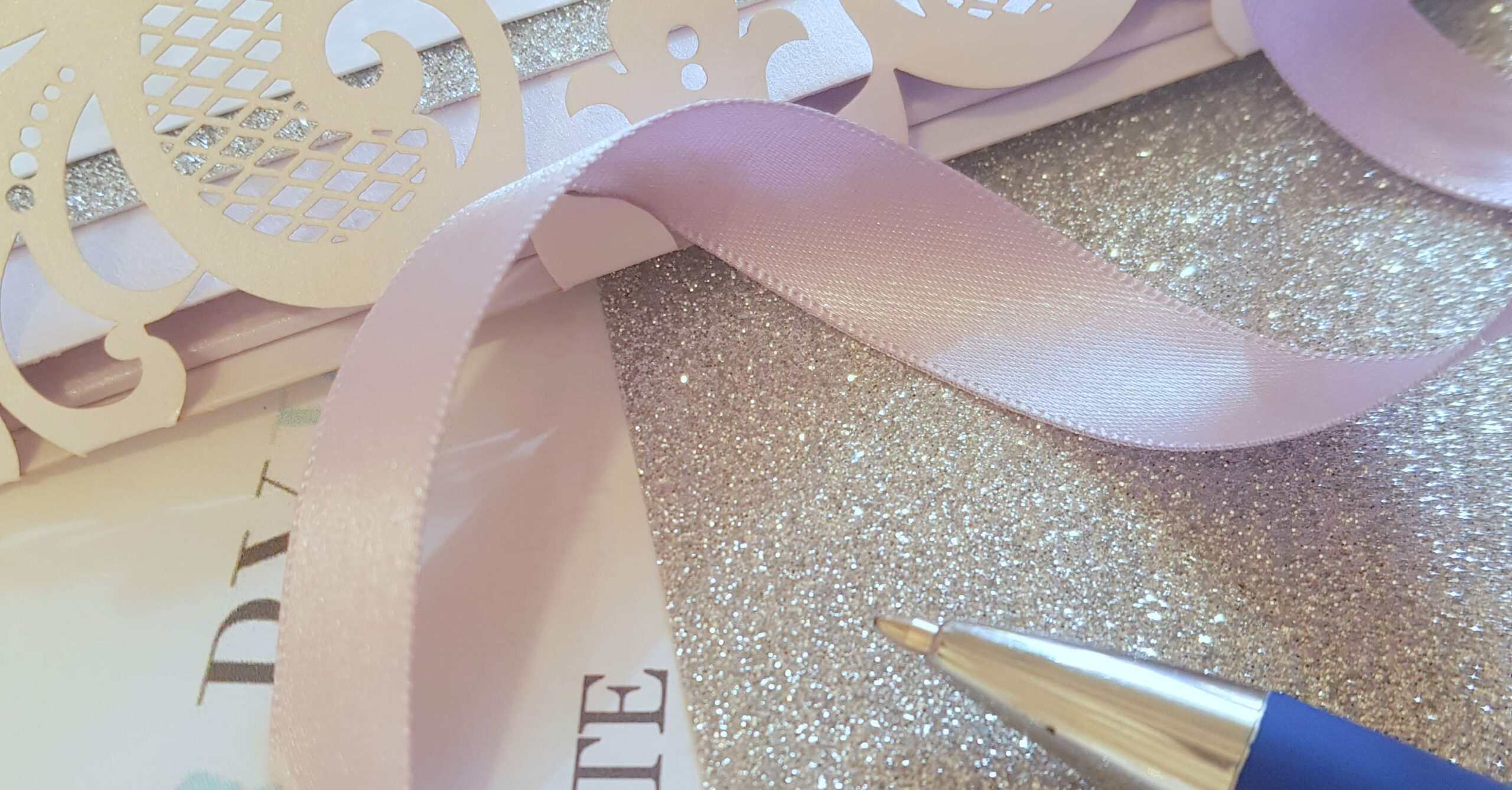 wedding stationery ribbon and quote detail