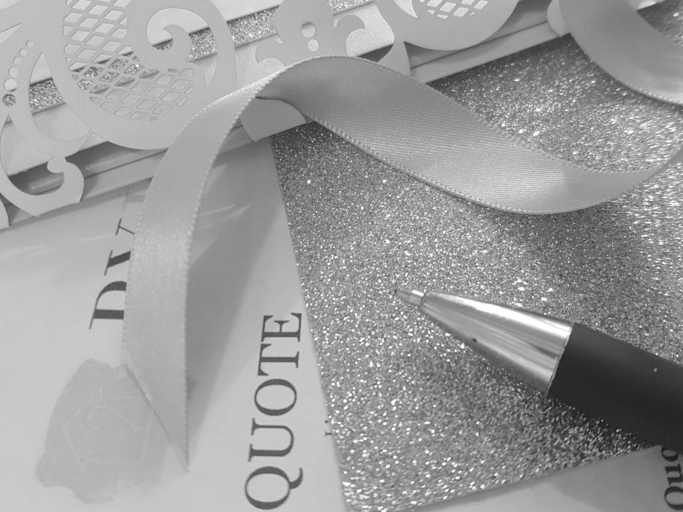 Quoting for handmade wedding stationery
