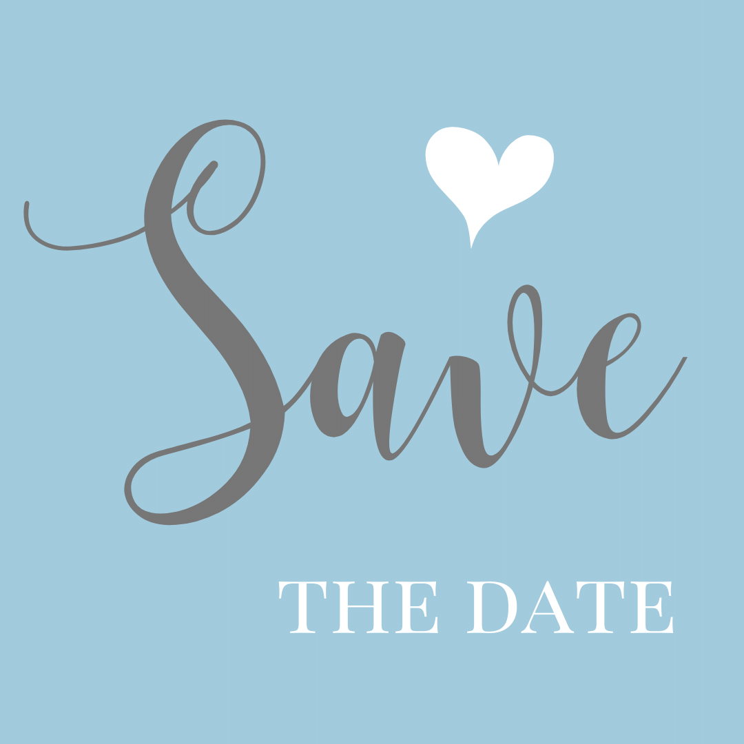 wedding save the date decorative text block