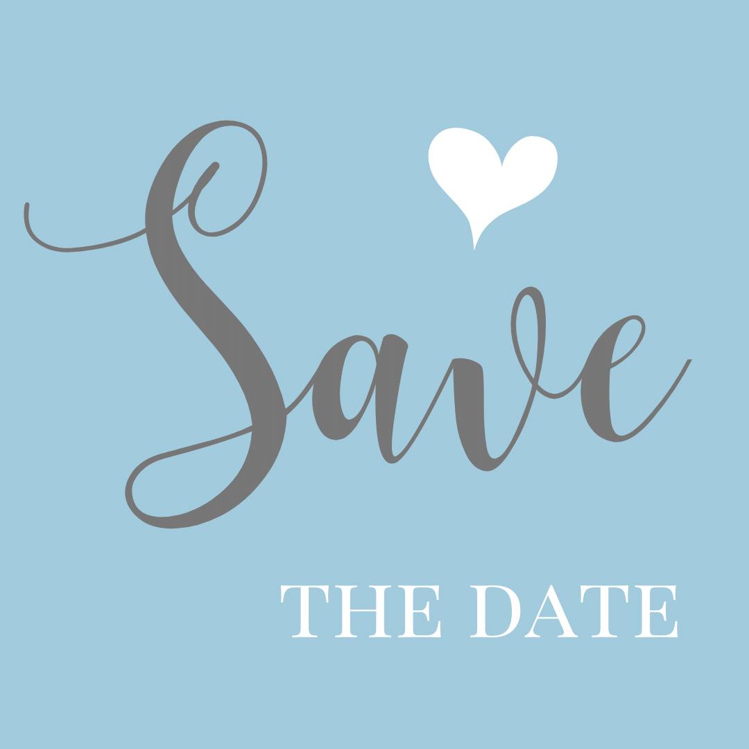 wedding save the date decorative text block