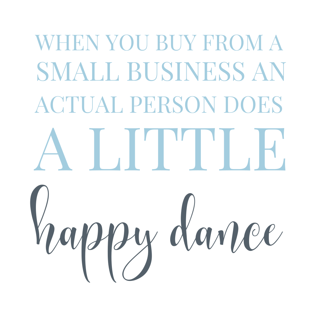 support a small local business quote