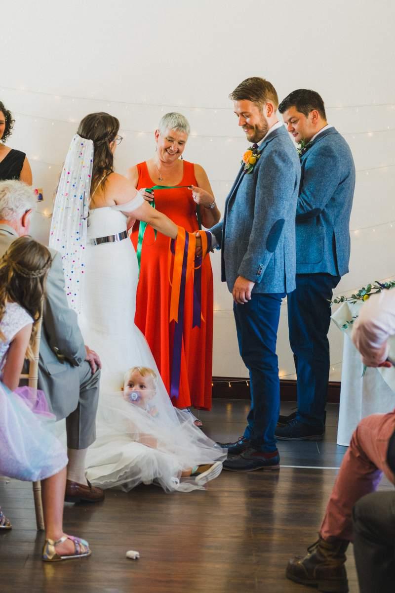 Hand fasting wedding ceremony