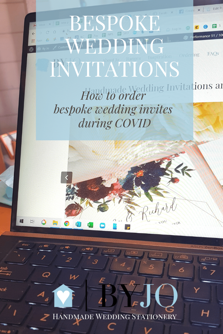 how to roder bespoke wedding invitations during COVID